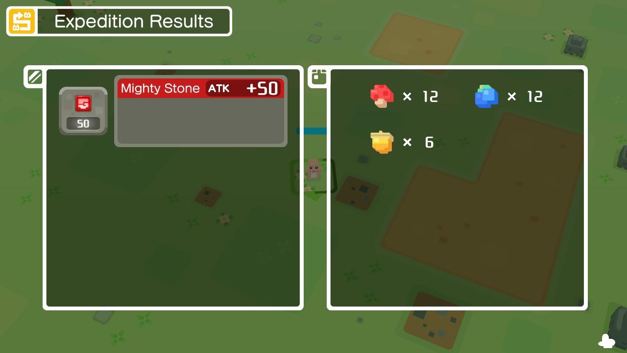Expeditie resultaat pokémon quest