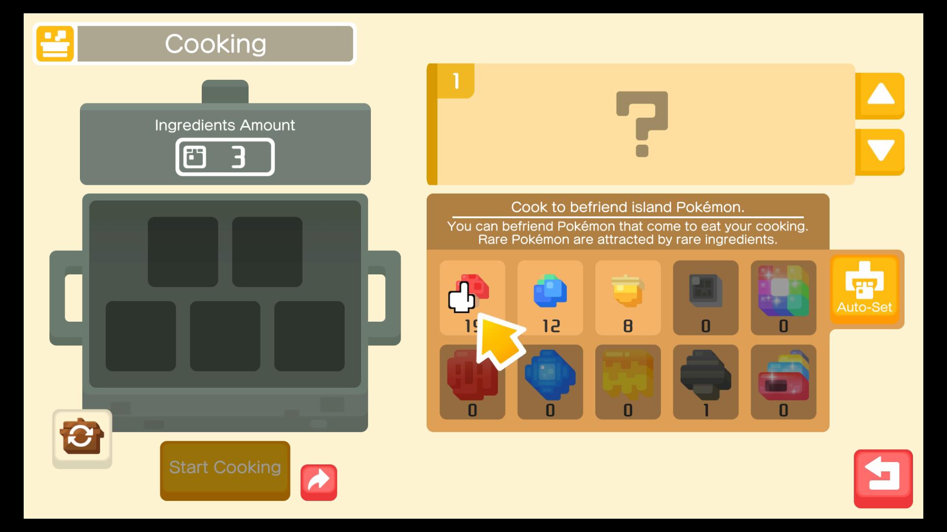 pokemon quest koken en recepten