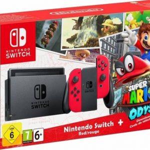 Nintendo Switch Super Mario Odyssey Console - 32GB - Rood