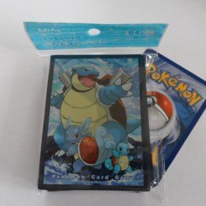 64 Japanse Pokemon TCG sleeves, kaart hoesjes Blastoise Wartortle Squirtle
