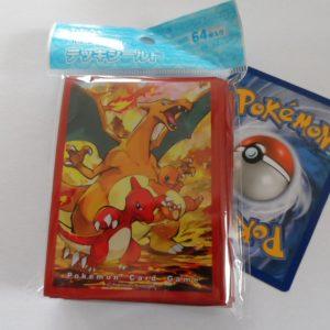 64 Japanse Pokemon TCG sleeves, kaart hoesjes Charizard, Charmeleon en Charmander