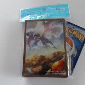 64 Japanse Pokemon TCG sleeves, kaart hoesjes Fossil Aerodactyl