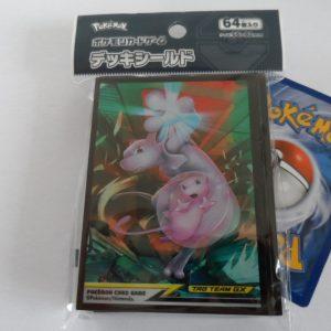 64 Japanse Pokemon TCG sleeves, kaart hoesjes Mew Mewtwo