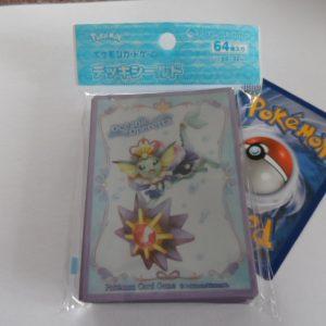 64 Japanse Pokemon TCG sleeves, kaart hoesjes Oceanic Operetta Vaporeon Starmie