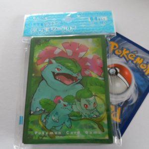 64 Japanse Pokemon TCG sleeves, kaart hoesjes Venusaur, Ivysaur en Bulbasaur