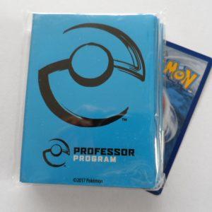 Blauwe Pokemon Professor sleeves / hoesjes om je Pokemon kaarten in te beschermen
