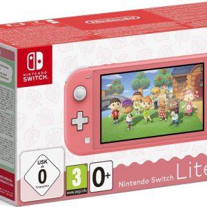 Nintendo Switch Lite Console - Koraal + Animal Crossing: New Horizons + 3 maanden gratis Nintendo Switch online