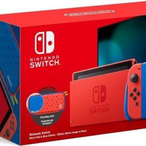 Nintendo Switch Console - Rood / Blauw - Nieuw model - Super Mario Limited Edition